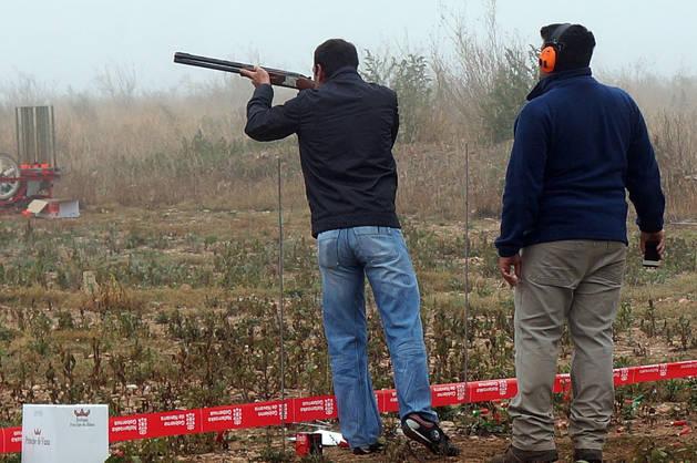 Una imagen del día del cazador en Castejón del año pasado.