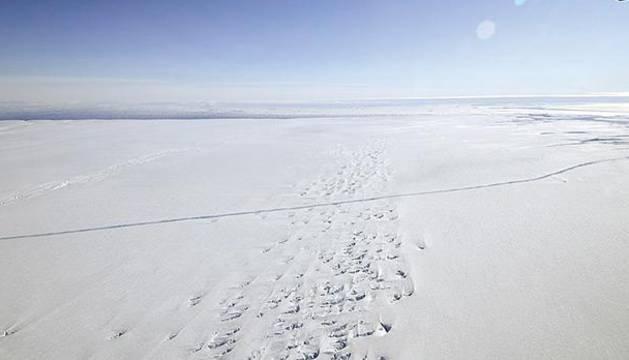 Foto del glaciar antártico de Pine Island.