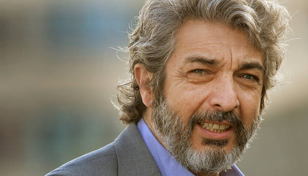 El actor argentino Ricardo Darín, ayer, en San Sebastián, antes de recibir el premio Donostia.