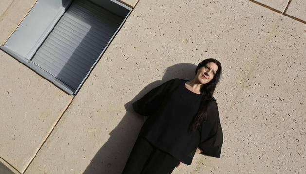 María Pagés, ayer por la tarde en el Museo Universidad de Navarra.