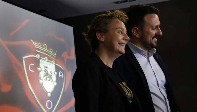 Eva Blanco y Juanra Lafón son de momento los únicos precandidatos para la presidencia de Osasuna.