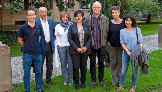 Representantes de Educación y de la Universidad Vasca de Verano.