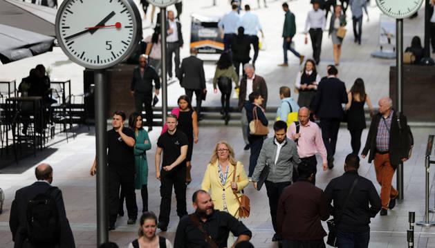 Las mujeres de clase media, el grupo más numeroso en la estadística de víctimas de violencia. En la imagen, distrito financiero de Londres