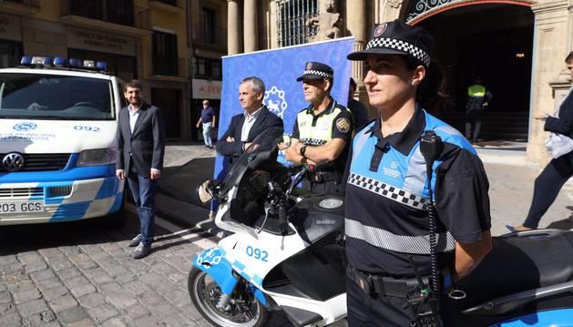Nueva imagen de la Policía Municipal de Pamplona