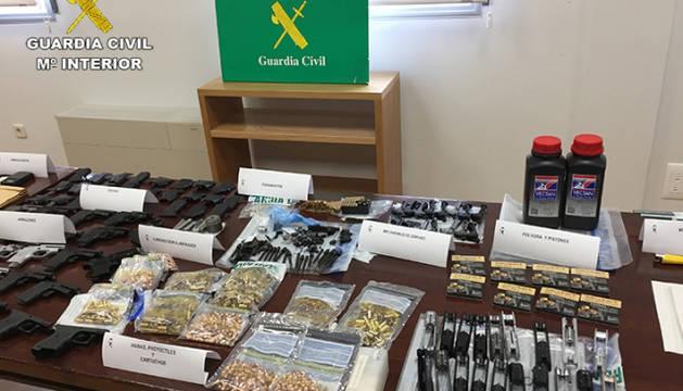Armas incautadas dentro de la operación RUGER.