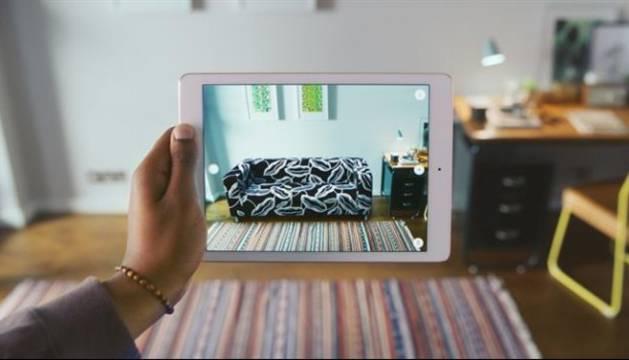 Foto de la app Ikea Place.