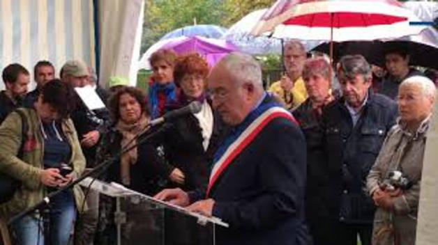 Discurso del alcalde de Gurs, Michel Forcade, en el homenaje