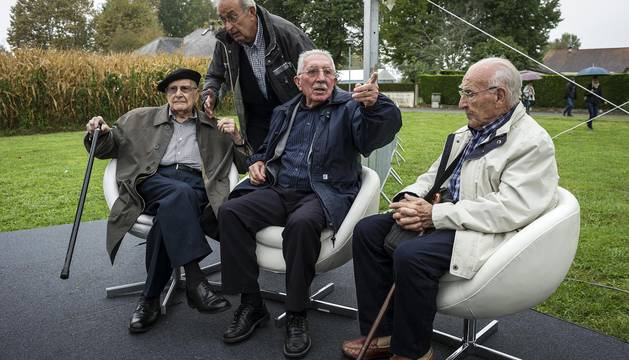 Homenaje a los navarros que estuvieron en el campo de Gurs