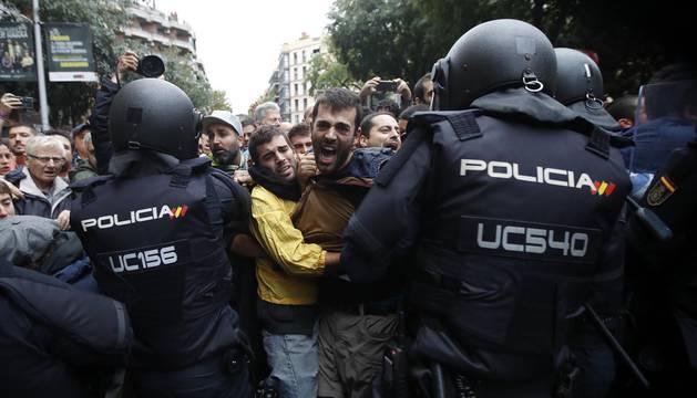 La jornada del 1 de octubre en Cataluña