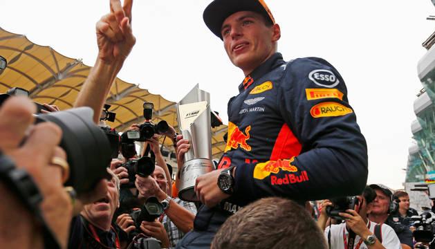 Max Verstappen, ganador del Gran Premio de Malasia.