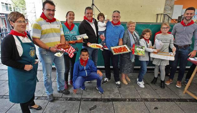 Concurso de relleno en las fiestas en Villava 2017