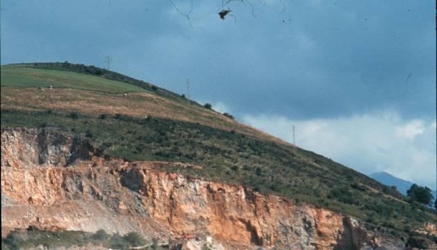 Detalle de la cantera de Almandoz en una imagen de archivo.