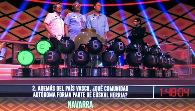 Foto de la pregunta del programa 'Boom', de Antena 3.
