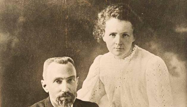 foto de Pierre y Marie Curie, en 1903.