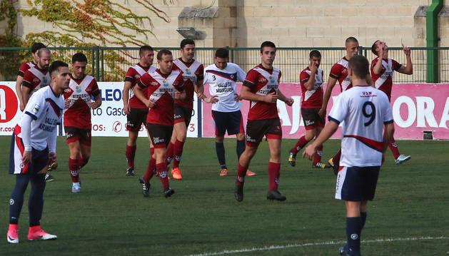 Imagen del encuentro de esta temporada entre Mutilvera y Gares