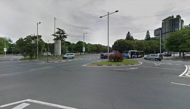 Foto de la Plaza de Juan XXIII de Pamplona.