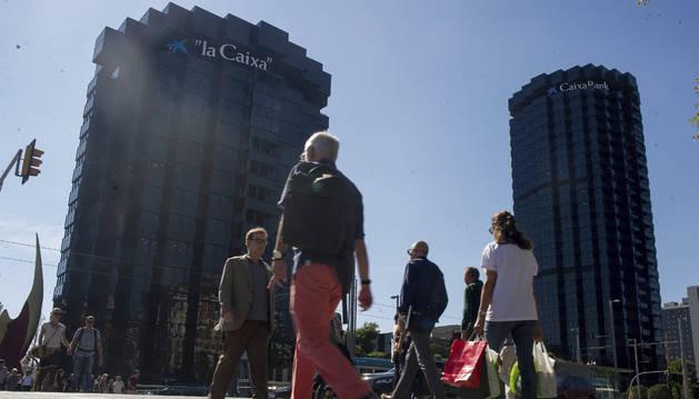 Foto de la sede de CaixaBank en Barcelona.