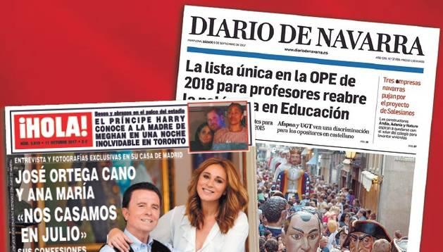 La revista ¡Hola! y Diario de Navarra.