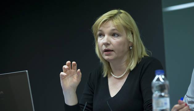 La doctora rusa Irina Matveikova, durante su intervención.