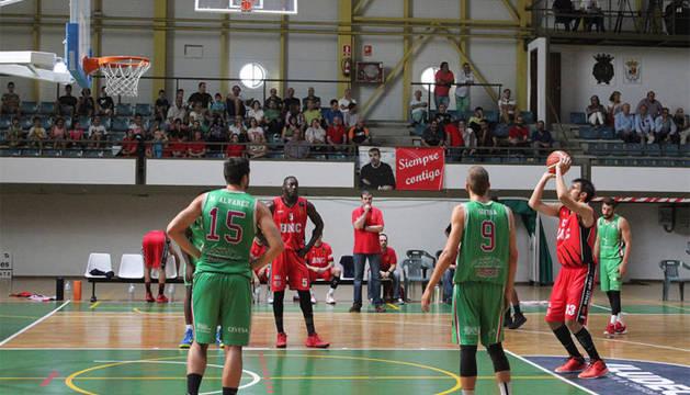 Imagen de un partido del Basket Navarra.