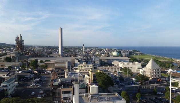Vista general de la ciudad japonesa de Hitachi.