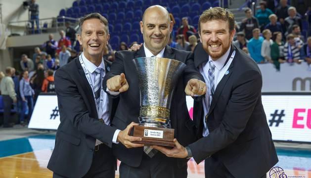 César Rupérez, a la derecha, junto a Lucas Mondelo.
