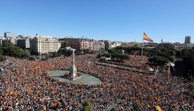 Manifestación en Madrid por la unidad de España