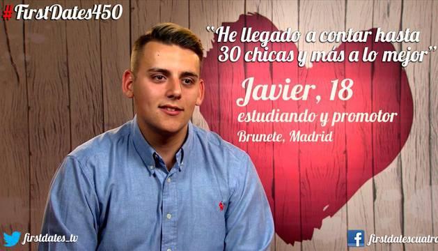 Imagen de Javier durante su presentación en el programa de First Dates.