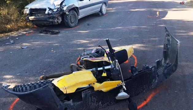 Herido grave un joven de 17 años en un accidente en Funes