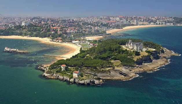 La capital cántabra, Santander.