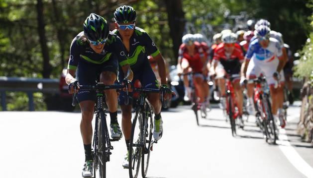 Anacona 'tira' de Nairo Quintana durante el Giro de Italia