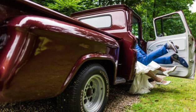 Fotografía de  Michael Klooster del álbum de boda de la pareja de holandeses.