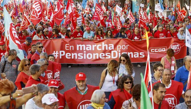 Foto de las Marchas por las pensiones dignas.