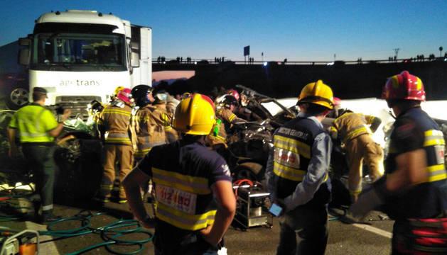 Imagen del accidente múltiple en Murcia