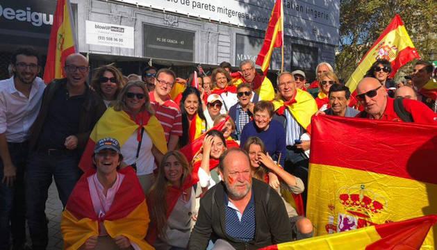Entre otros asistentes figuraban afiliados y dirigentes de UPN y del PP de Navarra.