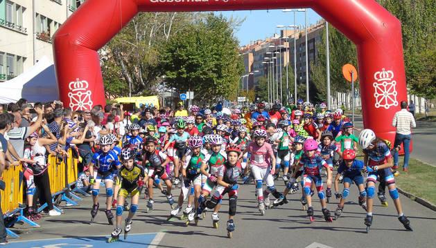 Txantrea dominó los podios de la XXVIII  Maratón de Patinaje de Barañáin