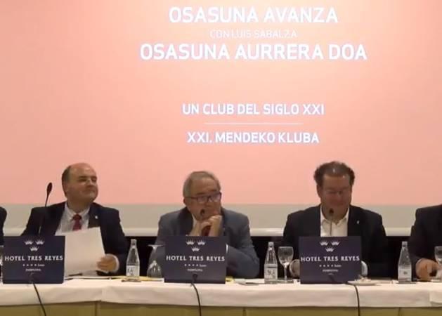 La Junta de Sabalza que se presenta a la reelección en Osasuna