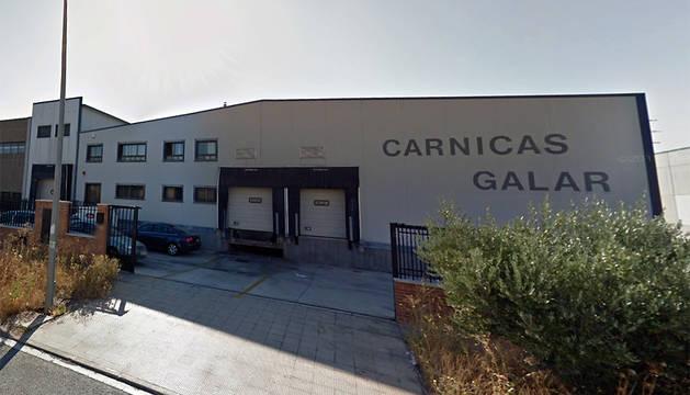 Exterior de la empresa Cárnicas Galar.