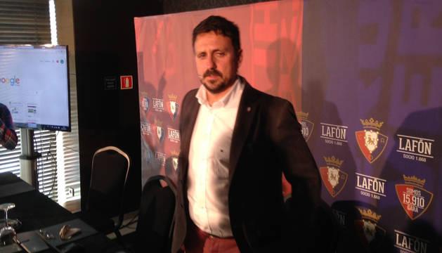 Juan Ramón Lafón, durante su comparecencia.