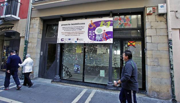 La bajera de la calle Mayor 20, donde se ubicará el Centro de Interpretación del Camino de Santiago.