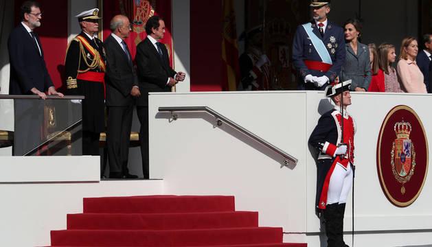 El Rey preside el 12 de octubre más tenso desde su proclamación