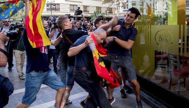 Enfrentamientos del lunes 9 de cotubre en Valencia.