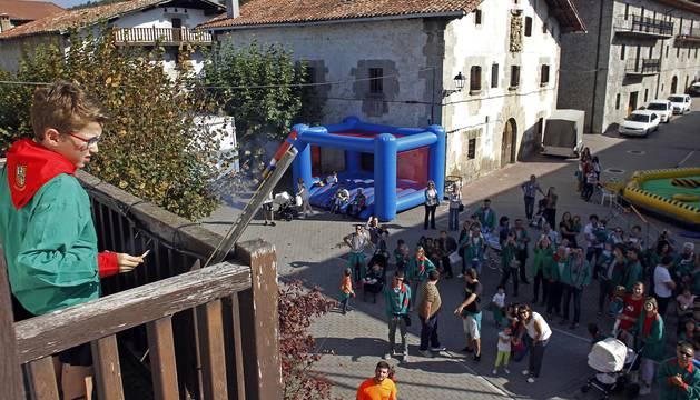 Lekunberri celebró este sábado su penúltimo día de fiestas, el dedicado a los más pequeños de la localidad.