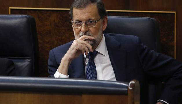 Mariano Rajoy, en el pleno del Congreso.