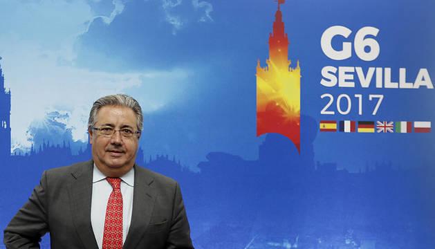 El ministro del Interior, Juan Ignacio Zoido, en Sevilla.