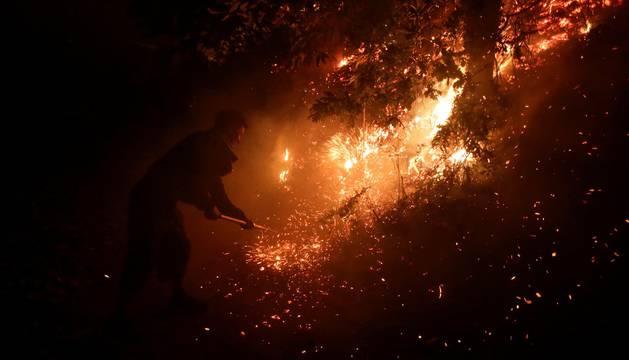 Pánico en Vigo por los incendios que asolan Galicia