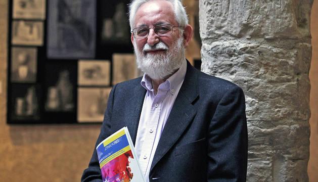 Emilio Martínez Navarro, ayer en el Palacio Condestable de Pamplona.