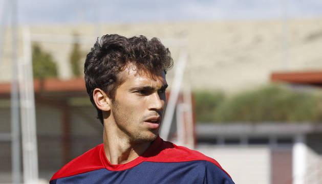 Lucas Torró, en un entrenamiento reciente en las instalaciones de Tajonar.