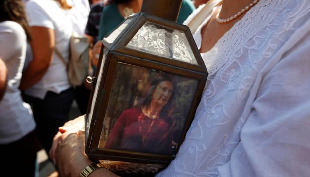 En una manifestación en honor a la víctima