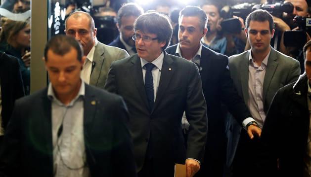 Puigdemont llega al consejo